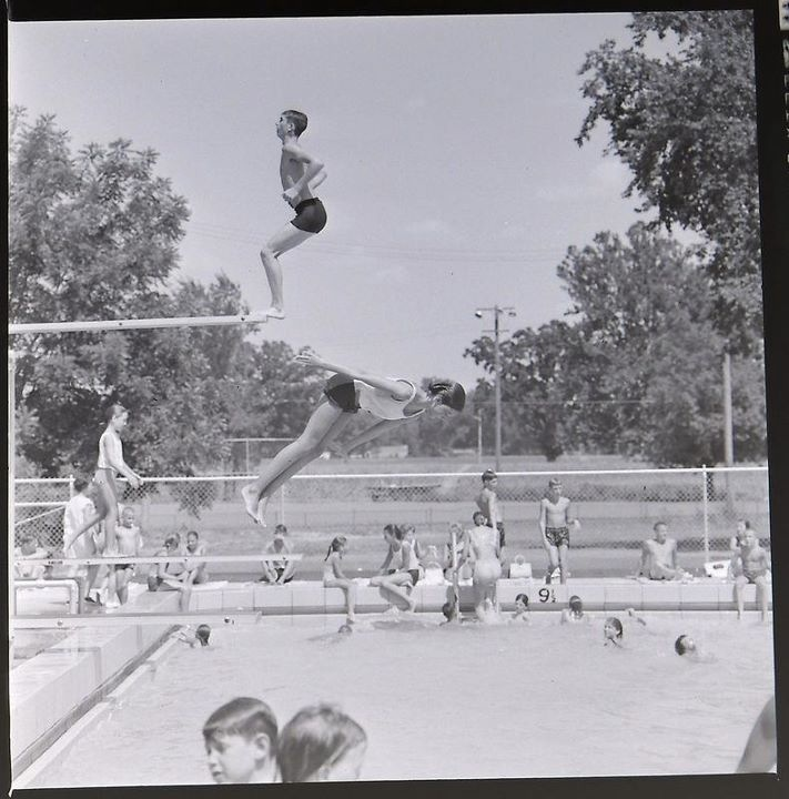 #189 THIS IS BACK WHEN PARSONS STILL HAD A TALL TOWER DIVING BOARD. I WONDER WHAT YEAR IT DISAPPEARED? I USED TO LOVE TO DO BACK FLIPS OFF THE TOWER. SEE, THERE'S ONE NOW.