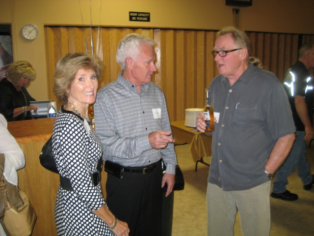 #114 CATHIE TOLMAN TODD & WAYNE TODD WITH JEFF THRASHER AT 50 YEAR REUNION CLASS OF 1964