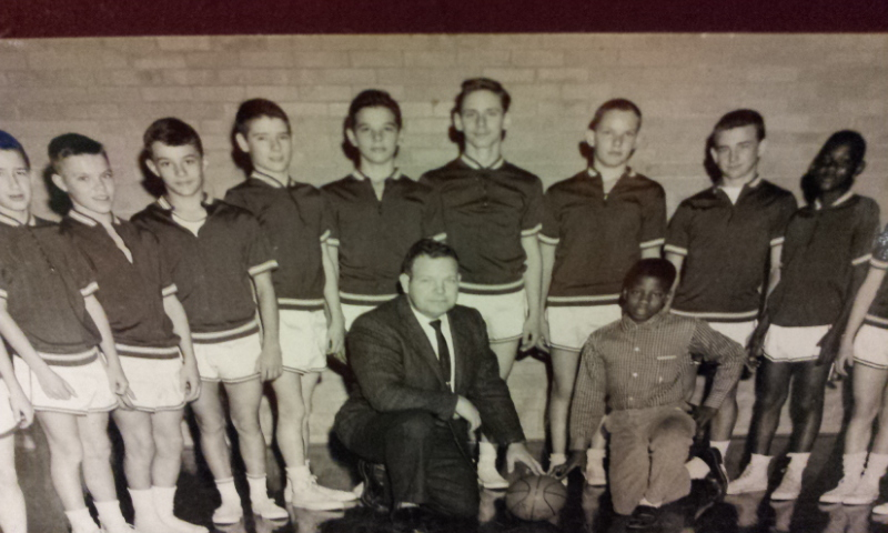 #157 59/60 PARSONS WEST J. H. 7th & 8th GRADE BASKETBALL TEAM & COACH DABNEY LAWHORN