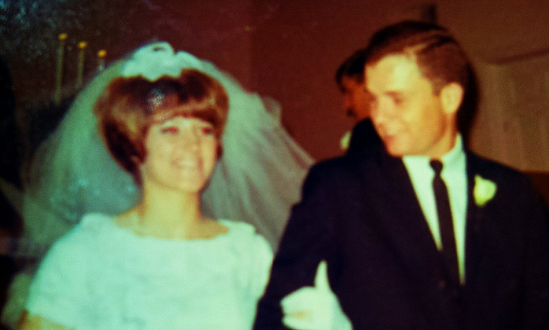 #34 CATHIE TOLMAN & WAYNE TODD PARSONS H. S. FOOTBALL QUEEN 1967