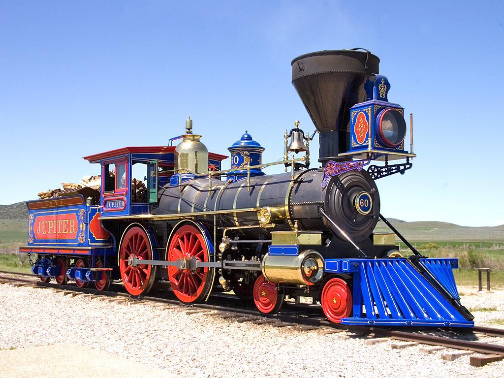 #110 REPLICA OF 1860 440 STEAM ENGINE JUPITER FROM UTAH