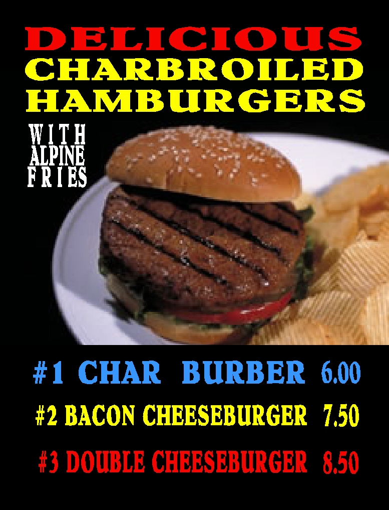 #26 DELICIOUS CHAR-BROILED SEASONED HAMBURGERS