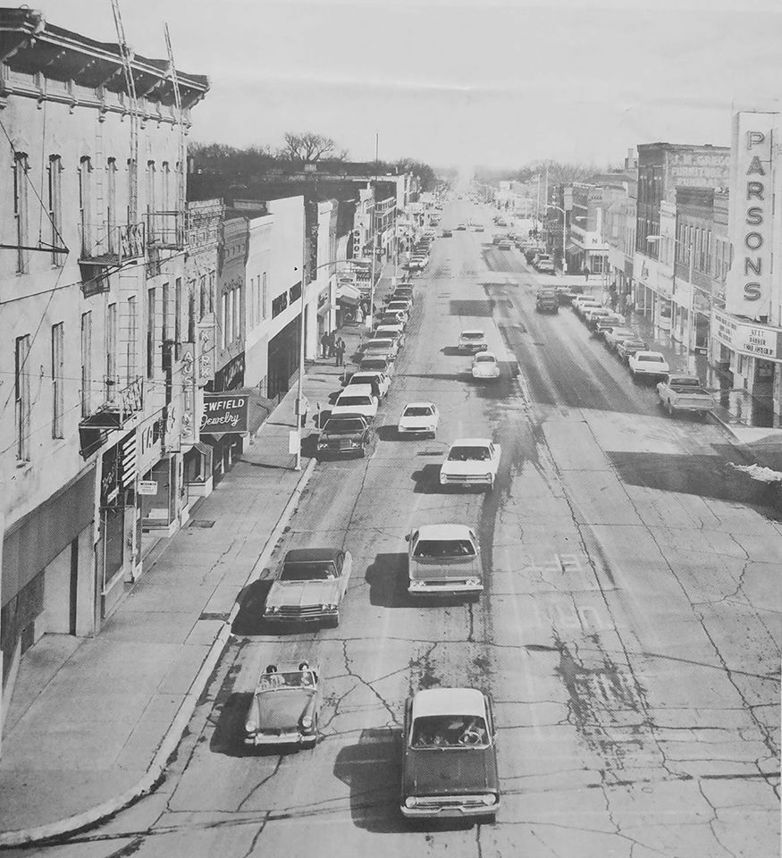 #37 MAIN ST. IN PARSONS KS. IN THE 60S' LOOKING EAST
