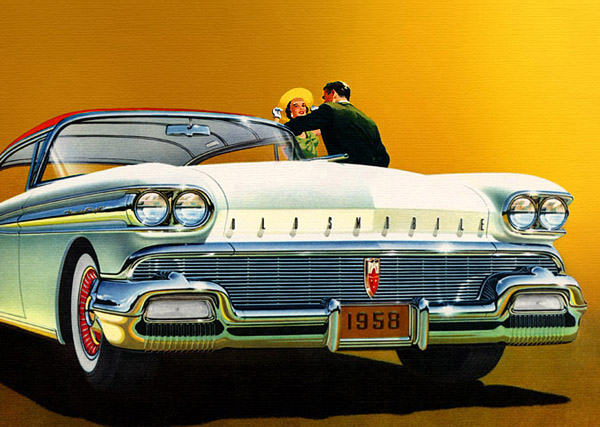 #54 Bill Linden's 1958 Oldsmobile 98