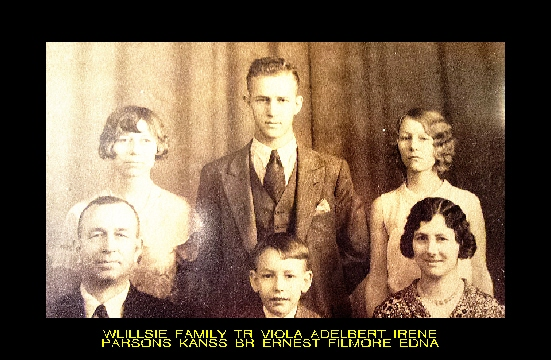 #28 P4 WILLSIE FAMILY PARSONS KS. 1923
