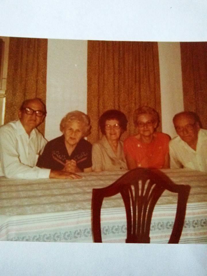 #24 P4 FIVE LINDENS, FROM ST. PAUL, KS. 1925 FRANCIS, ADELINE, CECILIA, BARBARA, & EDWARD