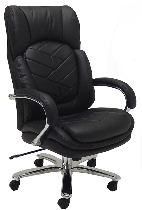 #163 GORGEOUS BLACK LEATHER DESK CHAIRS RATED AT 500 LBS, VERY STURDY, EXCELLENT CHAIR FOR FOR MEN