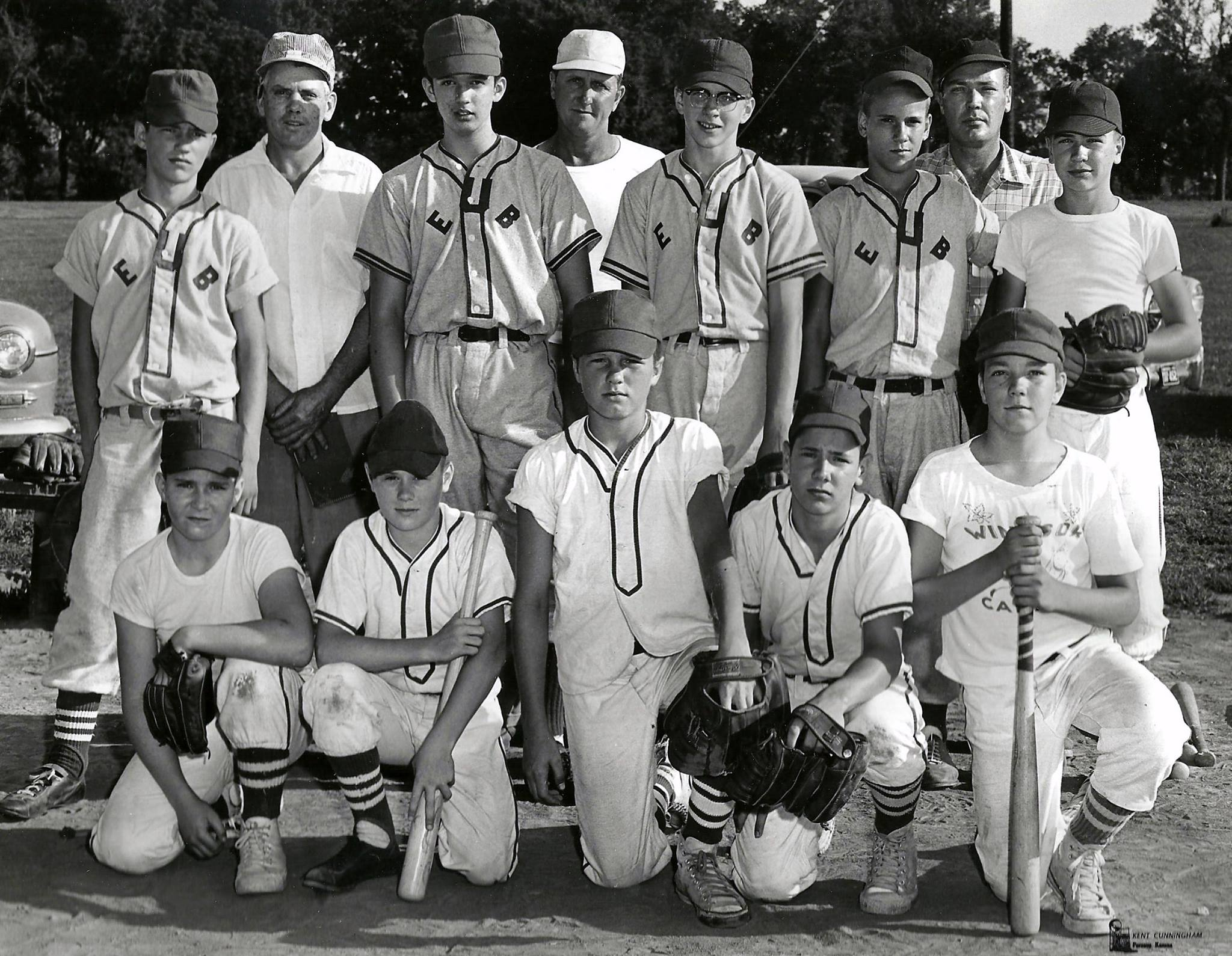 #39 P3 EUB Church 1956 baseball team