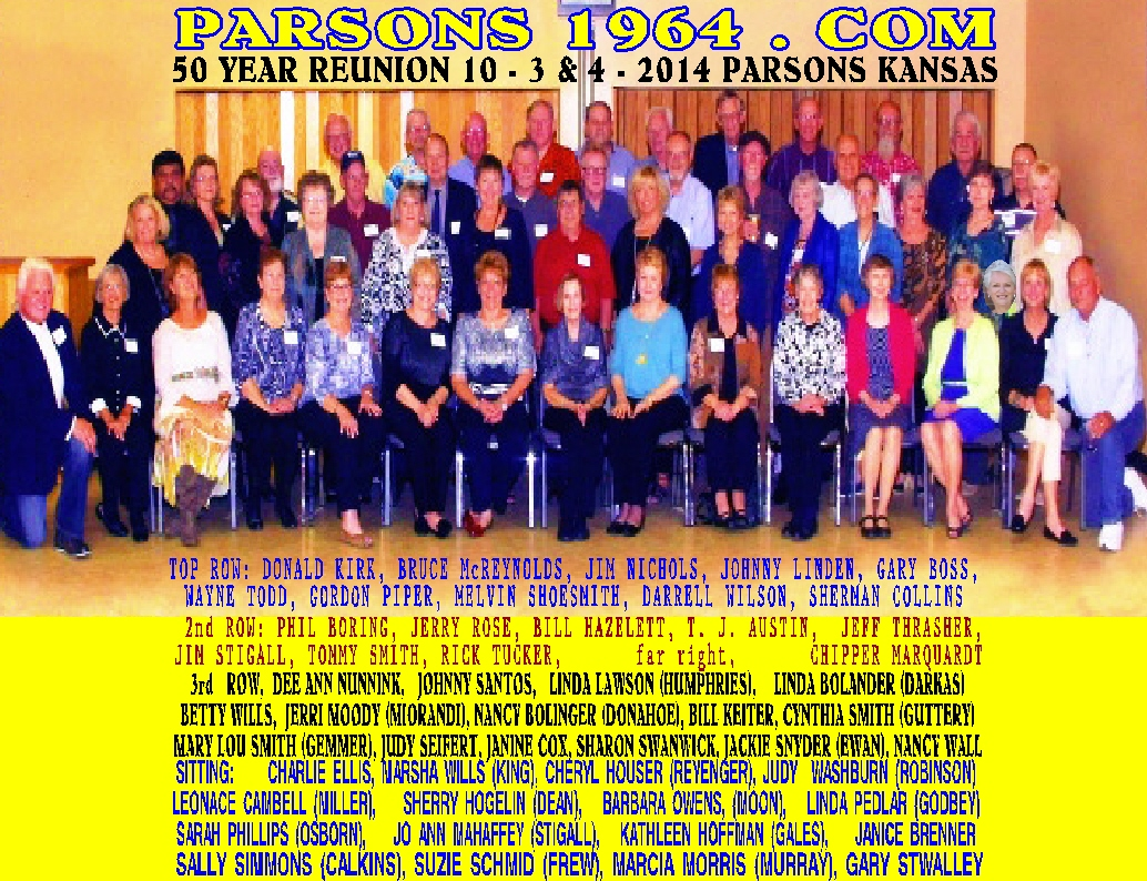 #162 IMPROVED COLOR PICTURE 1964 CLASS 50 YEAR REUNION OCT. 3 & 4, 2014 ALL TMIE TOP 10 FEMALE COUNTRY SINGERS