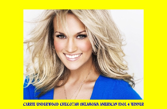 #154 CARRIE UNDERWOOD CHECOTAH, OK BOBBIE BARE SONGS 1-30 Nelly Don #1 seller of women's clothing & former student at Parsons H. S.