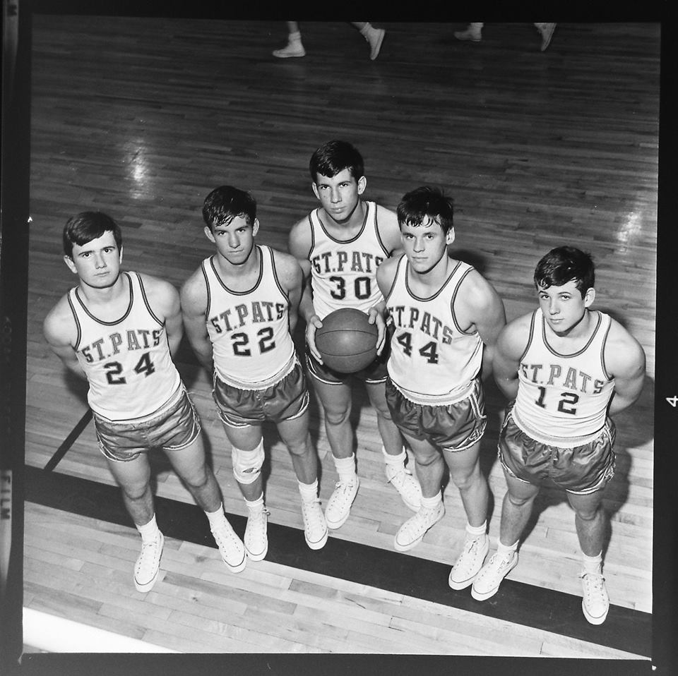 #67 P3 1967 ~ St. Pats Leprechauns L to R with Louie Switklik, Steve Laforge, Mike Dunlay, Larry Stevens and Dave Donnelly.