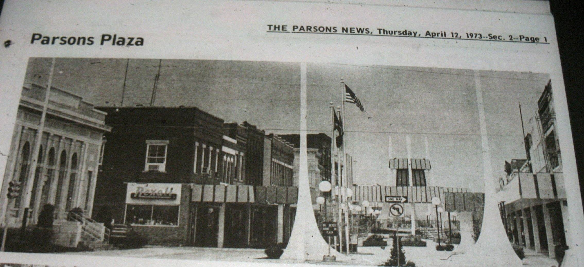 #132 PARSONS PLAZA LOOKING WEST 1973