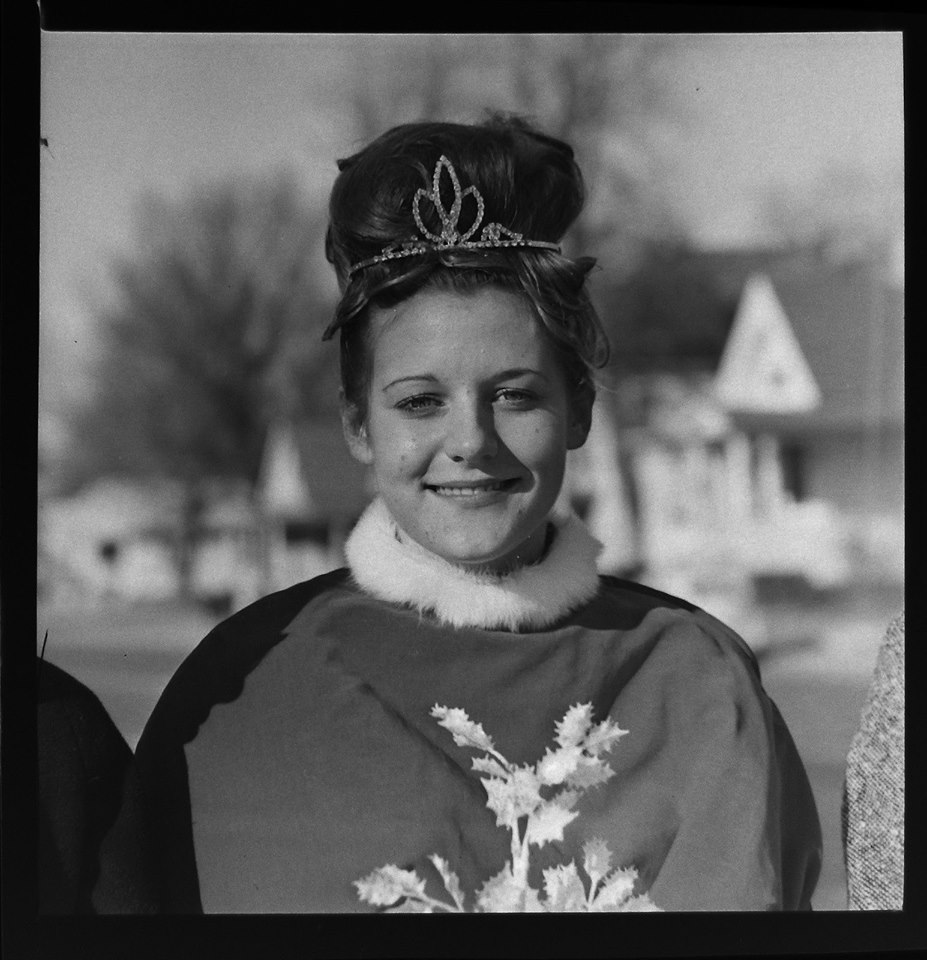 #143 P3  Mary Dulavey, 1966 Parsons Christmas parade queen from Galesburg, Ks.