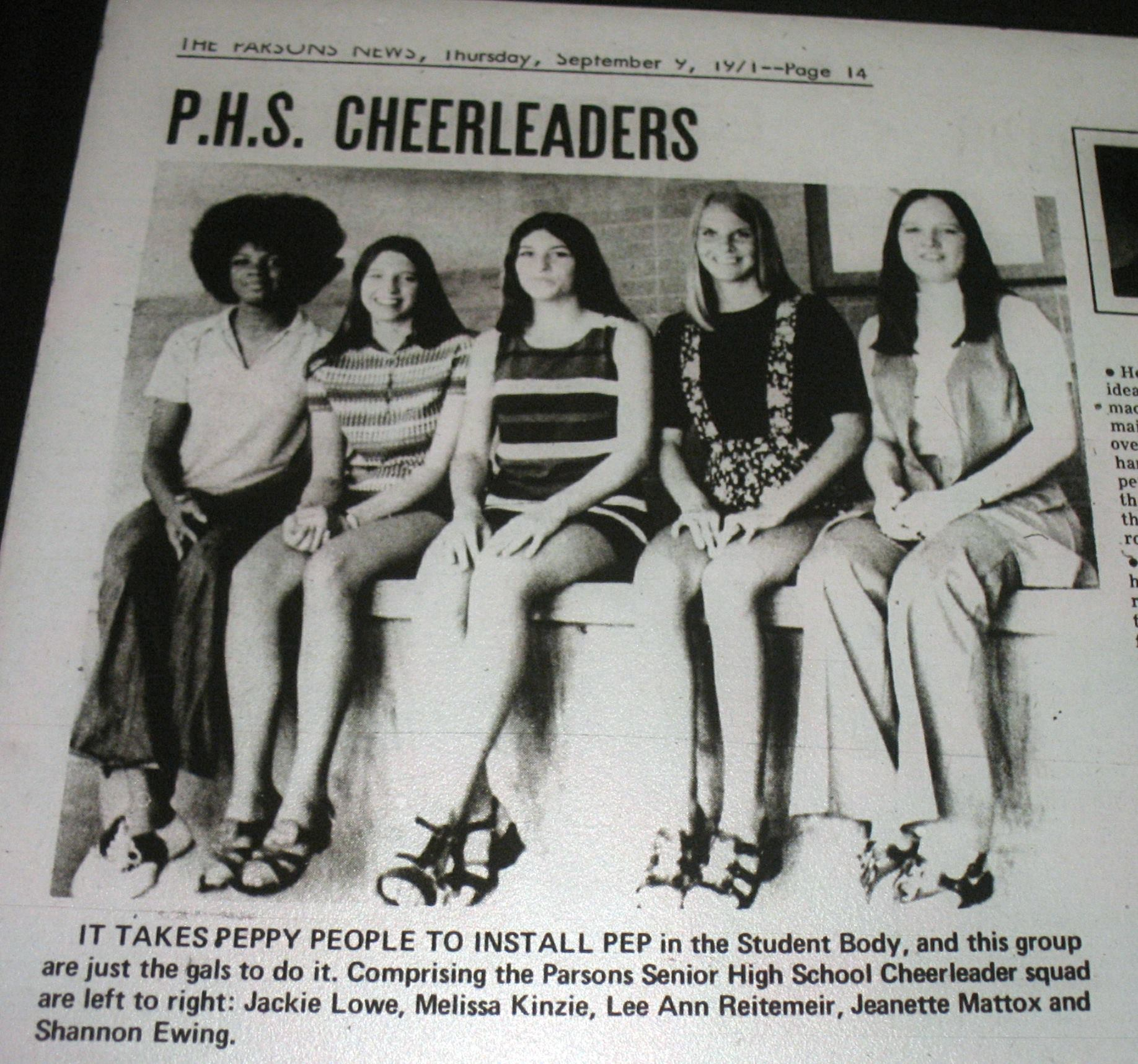 #31 71/72 PARSONS CHEERLEADERS
