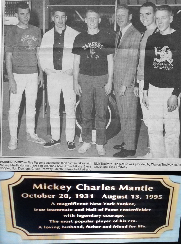#48 MICKEY MANTLE AND THE BOSTON CELTICS & ST. LOUIS HAWKS IN PARSONS KANSAS