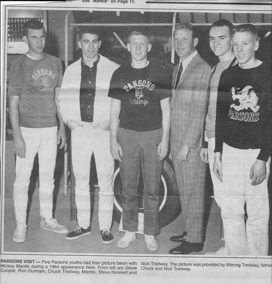 #21 MICKEY MANTLE AND THE BOSTON CELTICS & ST. LOUIS HAWKS IN PARSONS KANSAS