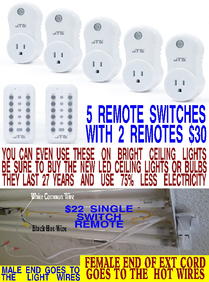 #86 WIRELESS REMOTE LIGHT SWITCH FOR 5 DIFFERENT ROOMS WITH 2 REMOTES ONLY $30 WITH 2 DAY FREE SHIPPING FROM AMAZON PRIME. EVERYONE NEEDS ONE OF THESE. THEY'RE AWESOME.