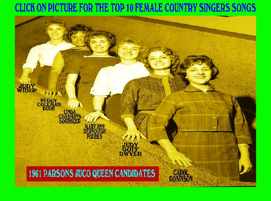#110 1961 PJC BASKETBALL QUEEN CANDIDATES & TOP 10 FEMALE COUNTRY SINGERS & THEIR  CLASSIC SONGS