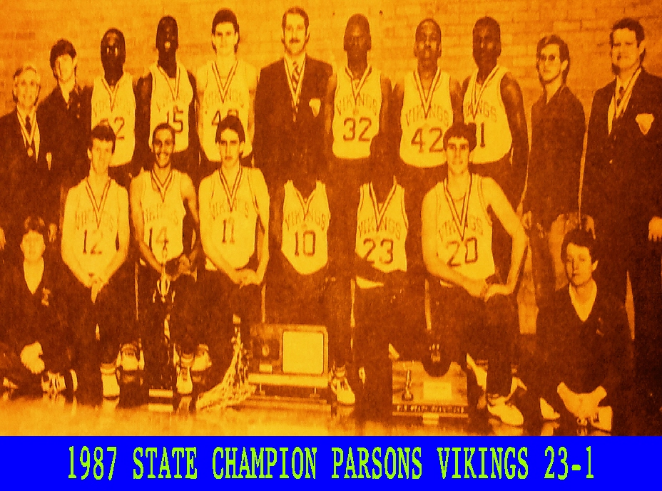 #12 PARSONS VIKINGS 5A BASKETBALL STATE CHAMPIONS 1987