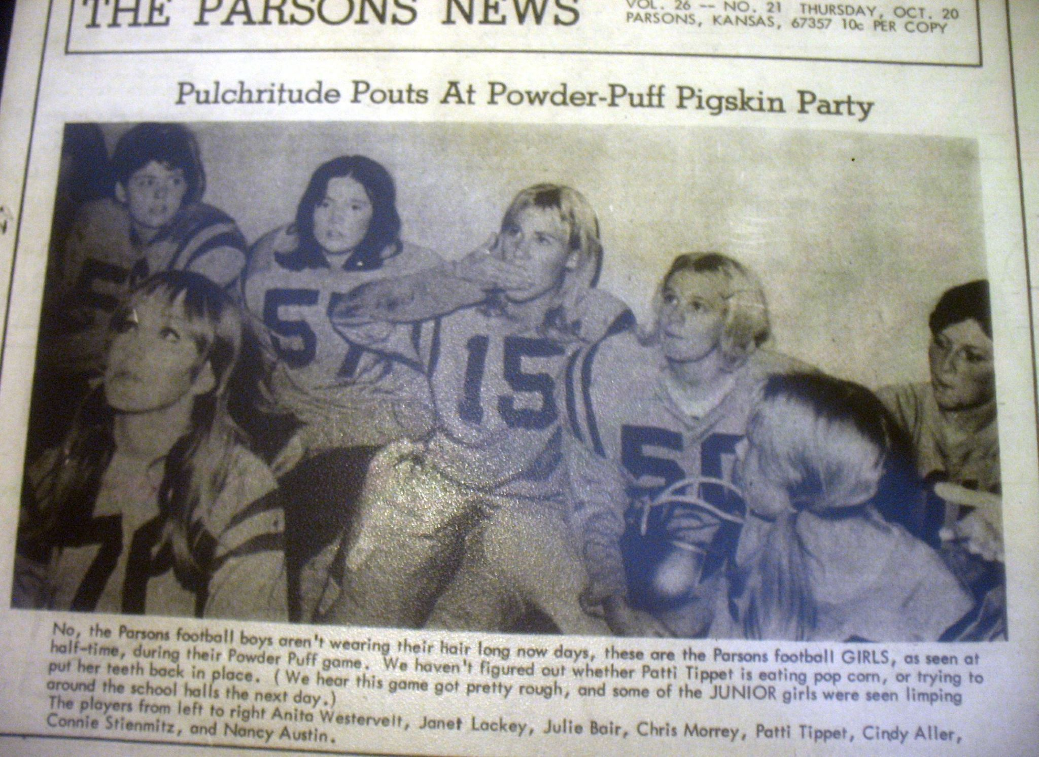 #33 PARSONS CHEERLEADERS 1968?