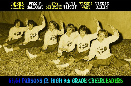 #79 63/64 PARSONS J. H. 9th GRADE CHEERLEADERS