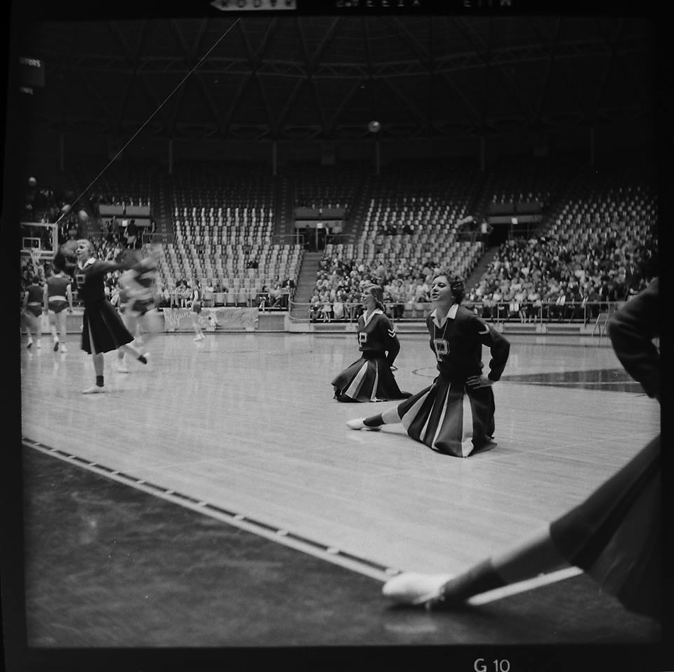 #36 PARSONS CHEERLEADERS IN 1961 AT THE STATE TOURNAMENT