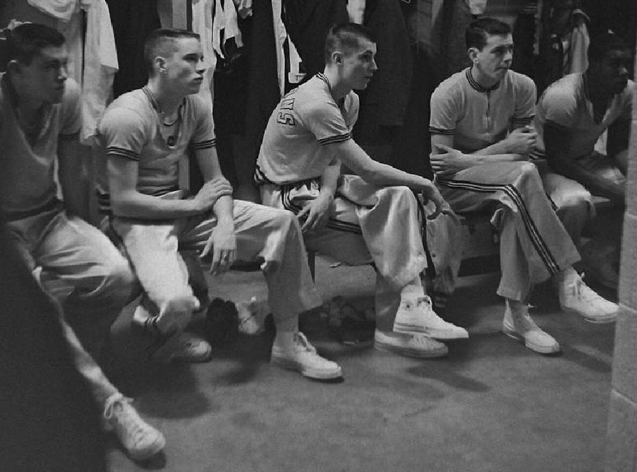 #17 Tom Verner, Jack Crane, 3, Daryl England & George Harvey PHS 1962 BASKETBALL