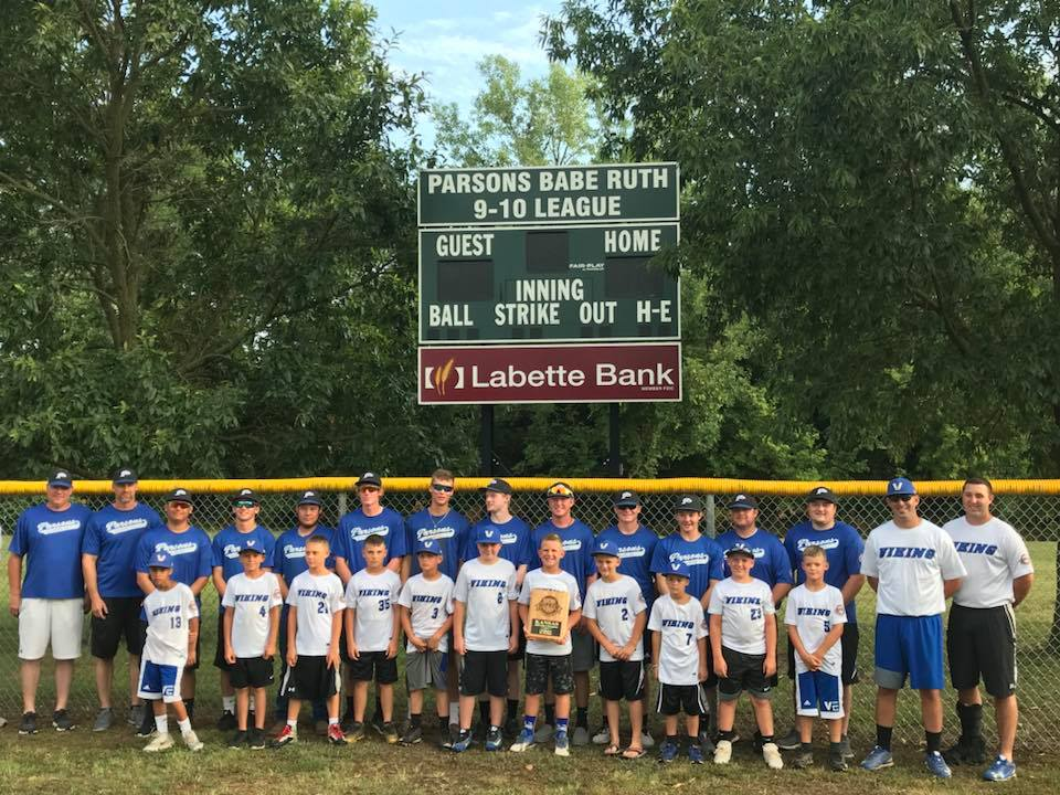 #44 Parsons has 2 Babe Ruth State Champion baseball teams in 2018