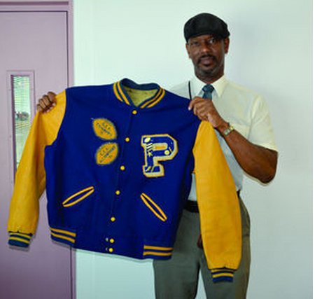 #157 DERREL GOFORTH'S PARSONS H. S. LETTER JACKET OKLAHOMA STATE & THE GREEN BAY PACKERS