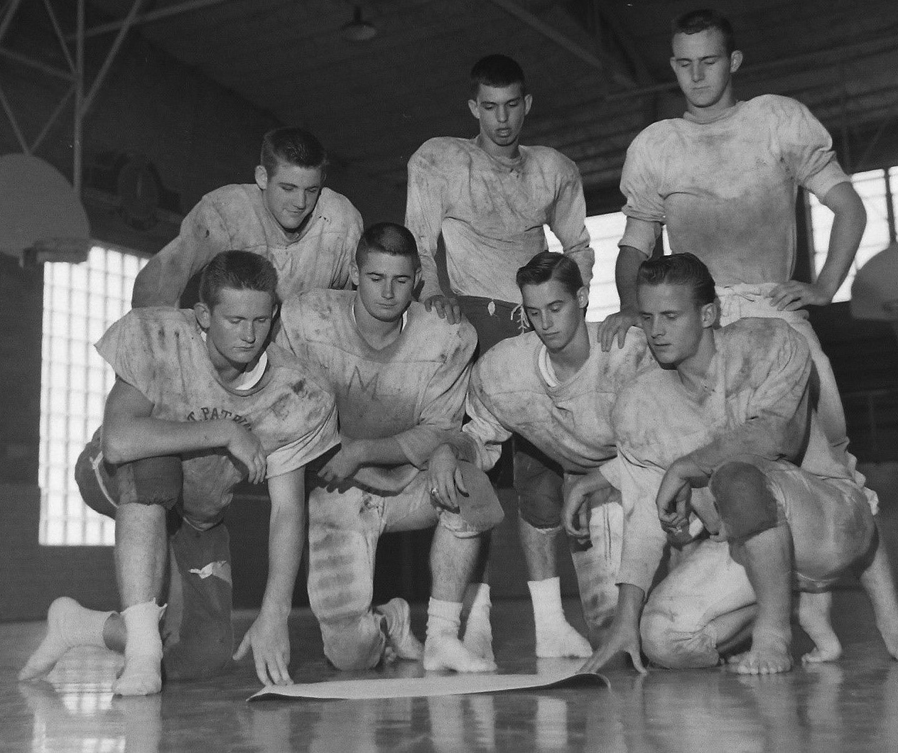 #71 ST. PATS FOOTBALL 1961 FLOYD HORTON TOP CENTER