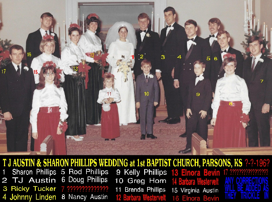#2 T J AUSTIN & SHARON PHILLIPS WEDDING WITH JOHNNY LINDEN GROOMSMAN 1960's