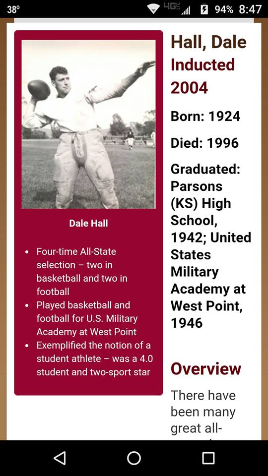 #52 MOST SUCCESSFUL ATHLETE FROM PARSONS KANSAS EVER FROM EUB CHURCH INCLUDING BILL GUTHRIDGE FINAL 4 BASKETBALL COACH AT NORTH CAROLINA
