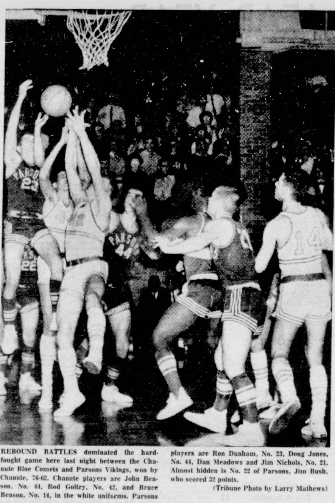 #101 VIKINGS BASKETBALL 1964