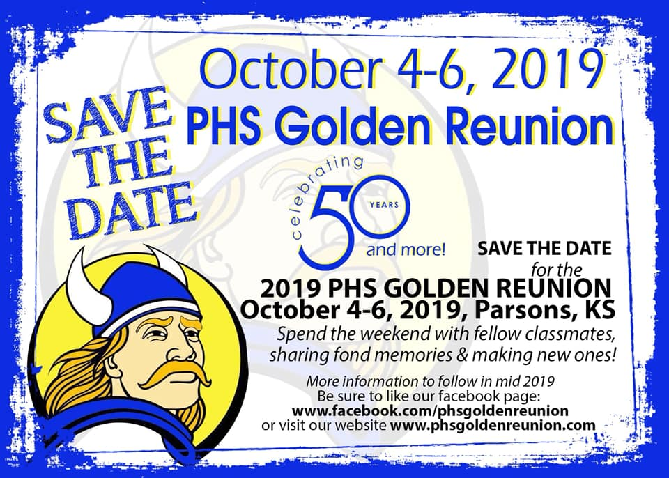 #1 PARSONS VIKINGS 2019  BASKETBALL GAMES 2019 PHS/ST. PATS GOLDEN REUNION REGISTER TO ATTEND