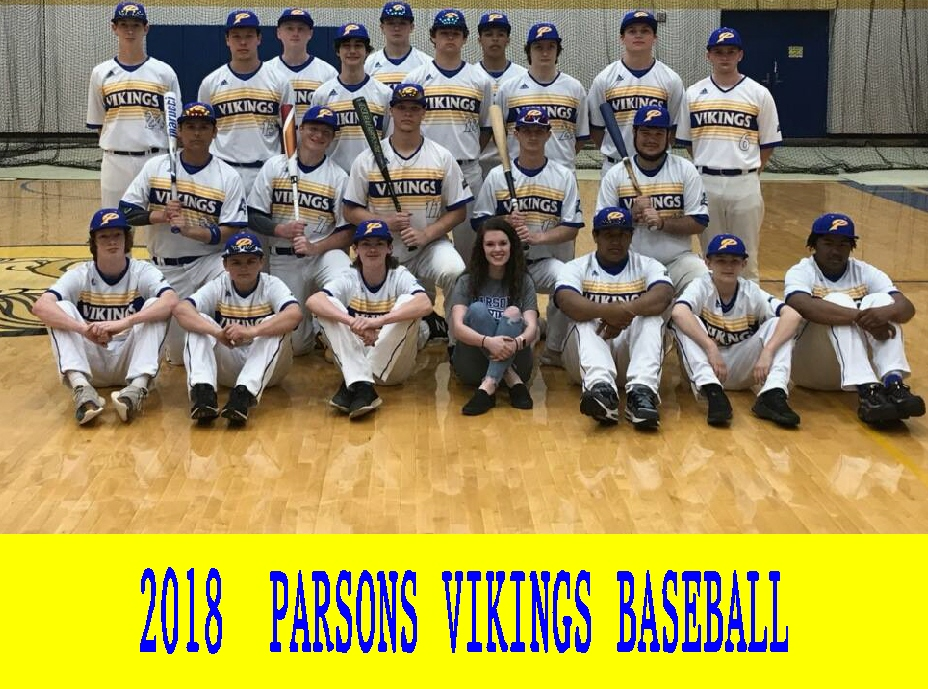 #91 PARSONS VIKINGS 2018 JADEN PONCE, 2nd ROW, FAR L click on picture