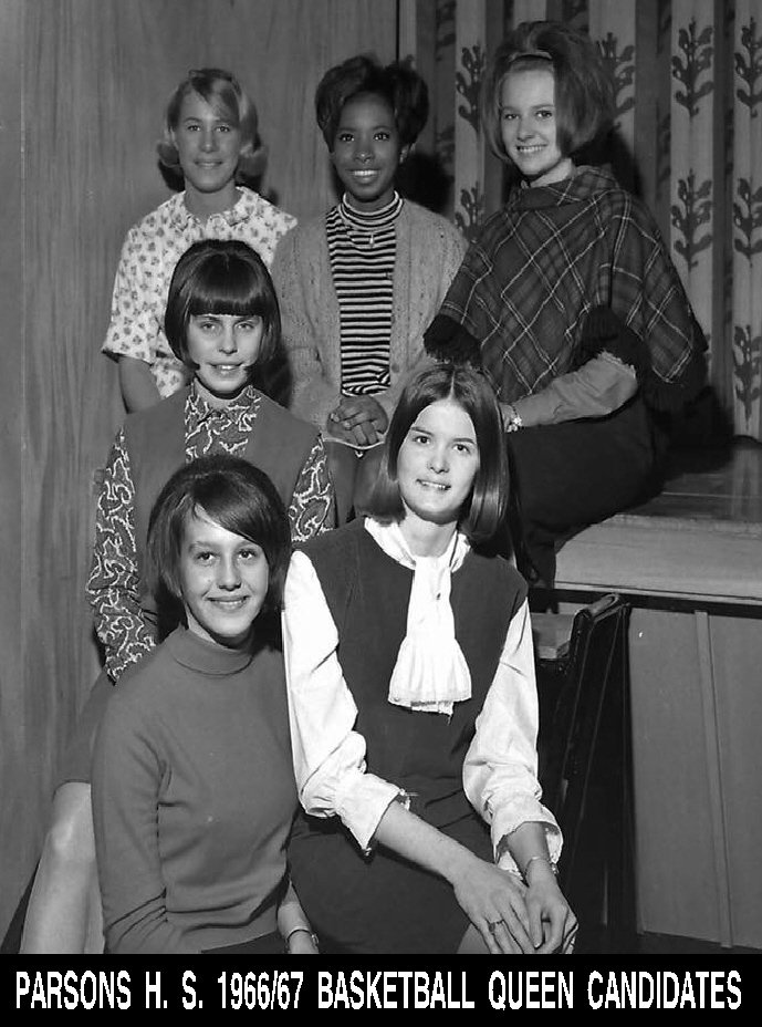 #30 PARSONS H. S. 1966/67 BASKETBALL QUEEN CANDIDATES