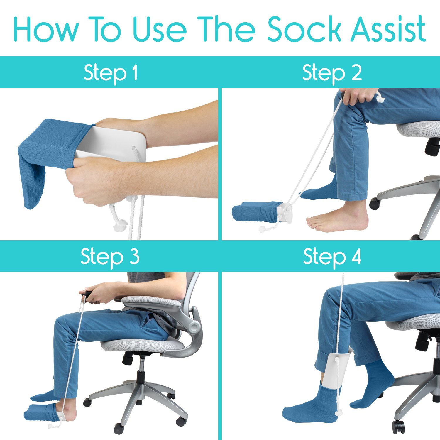 #6 STOP KILLING YOUR KNEES TRYING TO PUT ON YOUR SOCKS.