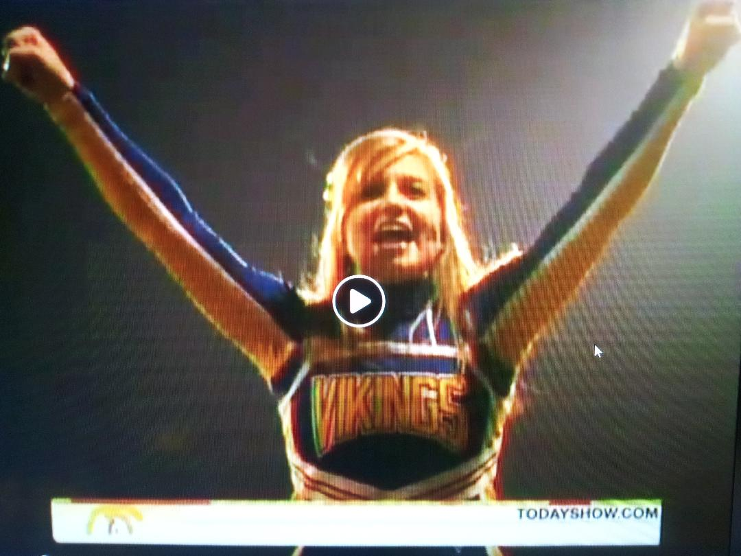 #94 ANONAMOUS VIKINGS 2009 CHEERLEADER IN THE NBC PARSONS, KANSAS KODACHROME VIDEO