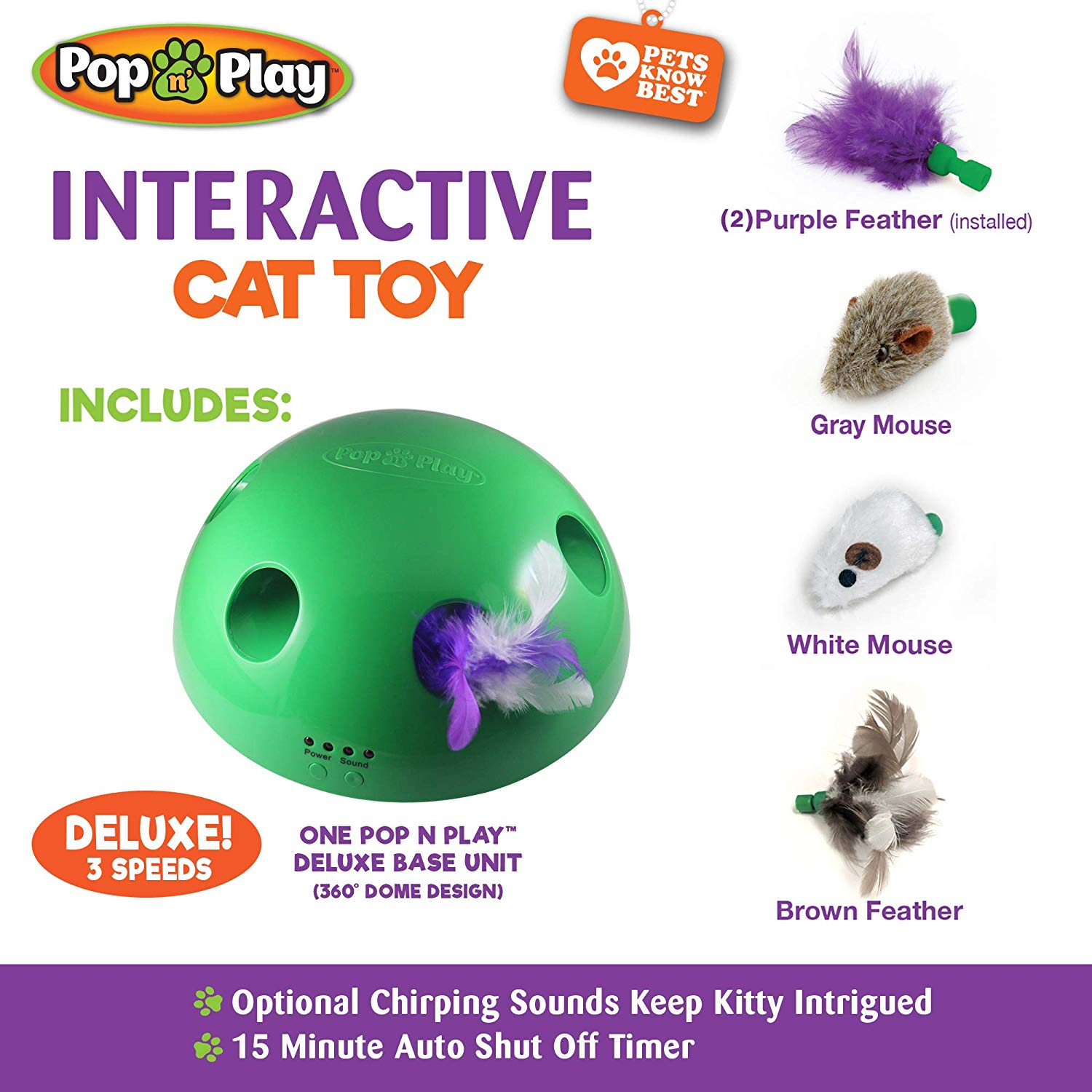 #13 Moving Pop n Play interactive Cat Toy