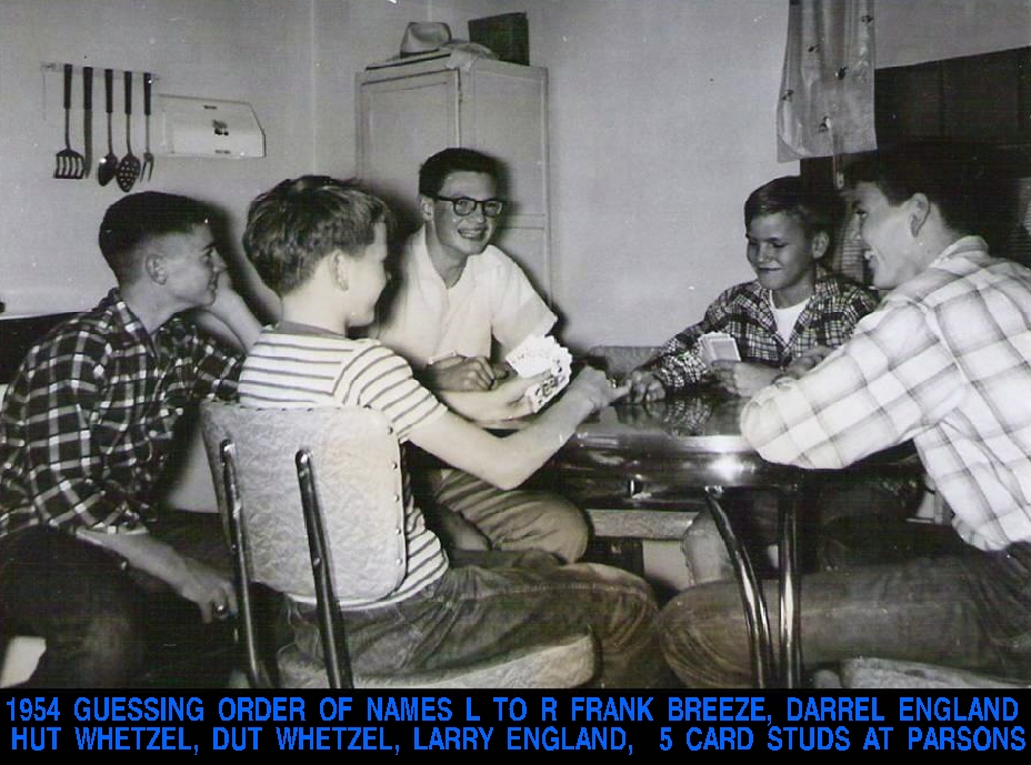 #86 PLAYING 5 CARD STUD AT PARSONS, KS 1954