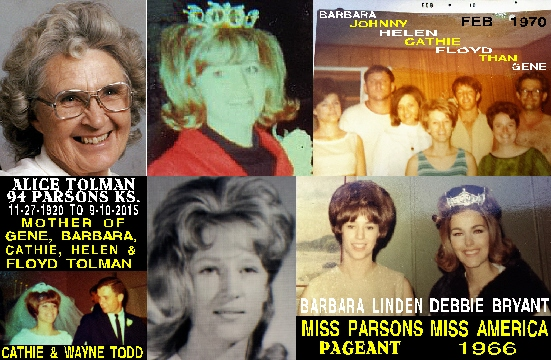 #102 ALICE TOLMAN OBITUARY 9-10-16 & CATHIE TOLMAN WAS NO DUMB BLONDE AND SHE COULD SING