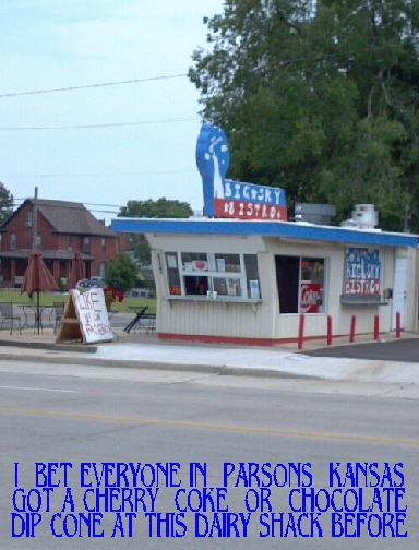 #140 PARSONS IN TOP 10 CITIES & CIRCLE FAMILY PECAN FARM AND COUNTRY STORE AT McCUNE, KS.