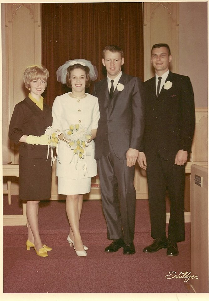 #36 CHERYL HOUDYSHELL IN BARBARA OWENS WEDDING TO AUGGIE MOON 1968 PARSONS, KS
