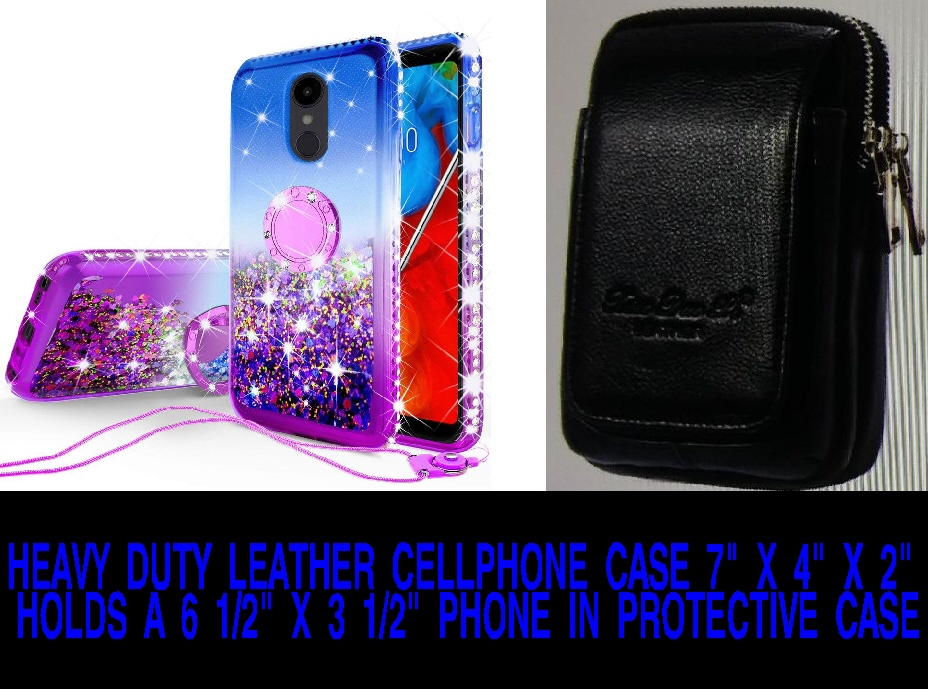 #158 BEAUTIFUL LEATHER, VERY HARD TO FIND, EXTRA LARGE CELL PHONE CARRYING CASE, GREAT KEY HOLDER, NO MORE HOLEY POCKETS 7