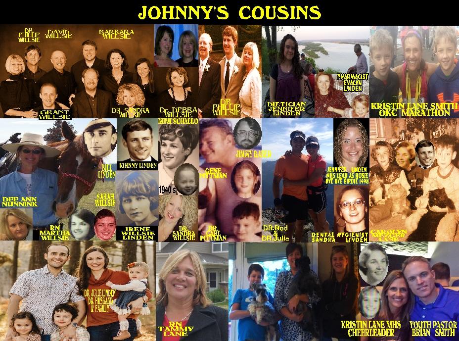 #7 JOHNNY'S COUSINS Dr. Sandra Willsie 8-18-53 to 3-26-17