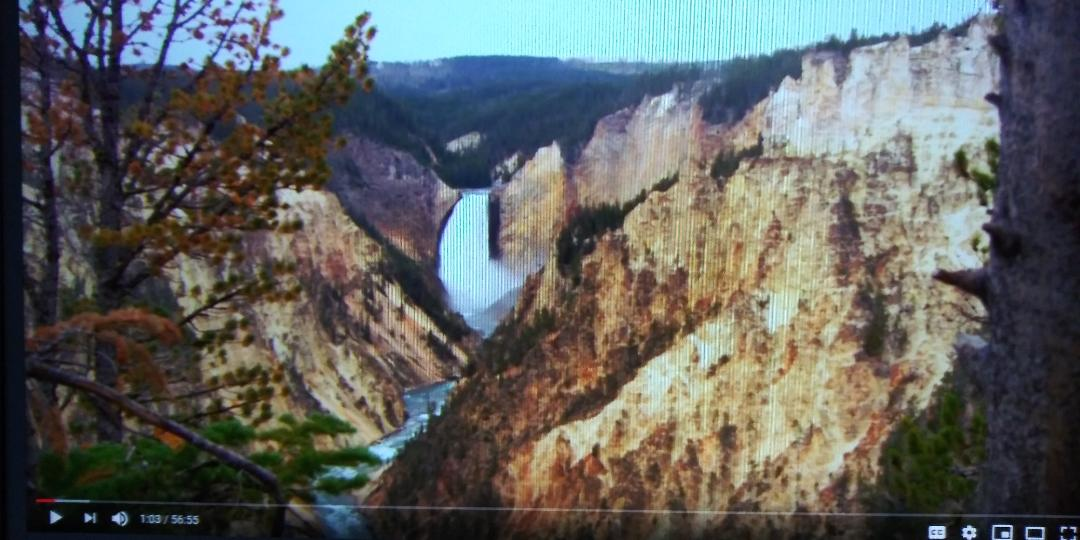 #84 BARBARA TOLMAN LINDEN PAINTED A PICTURE OF YELLOWSTONE FALLS SITTING IN ABOUT THIS SPOT WHEN WE WENT TO YELLOWSTONE IN 1968